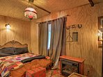Relax on the cozy full bed in the bunk house!