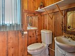 An additional bathroom is available for guests in the bunk house.