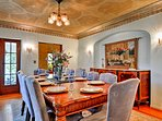 The formal dining space is perfect for holiday meals.