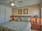 The second bedroom has a queen mattress.