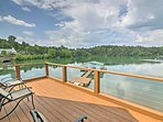 Soak in your waterfront location from the home's furnished balcony.