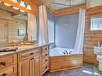 All of the bedrooms feature Jacuzzi tubs so no one will miss out on relaxation.