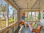 Relax and unwind in the sunroom.
