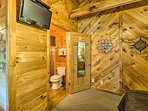 This cabin has everything you need to feel right at home!