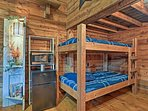 You'll feel as though your back at camp when you slumber in the bunk beds!