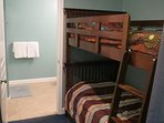 Bunkroom with 2nd Bath. Also small TV for the kids to connect game consoles to