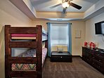 Third bedroom with bunks for little ones