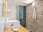 Newly renovated modern bathrooms.