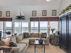 Living Area with a view of the Gulf