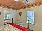 This bedroom features a private en-suite bathroom.