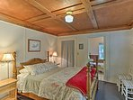Retreat to the master bedroom for a sound night's sleep on the queen bed.