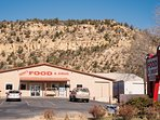 Terrys Food Town .. a good grocery and hardware store just 4 miles south.