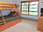 This bedroom also features a pullout trundle bed.