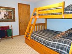 Kids will love the second bedroom with a twin-over-full bunk bed.