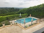 Enjoy pool from balcony