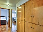 Beautiful built-ins are great for staying organized during your stay.