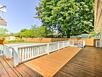 Soak up the sunshine on the large back deck.