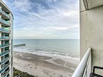 Step outside to the first balcony for ocean views!