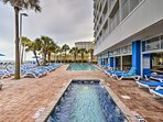 The resort has several indoor and outdoor pools and hot tubs.