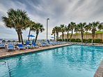 The condo is located right on the beach in the Sandy Beach Resort!