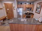 Granite countertops in this nice kitchen!