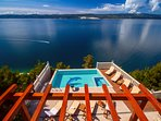 Amazing, open sea and island view from every corner of the property