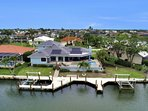 Aerial View of Home and Dock