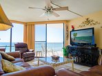Comfy, cozy living room! Large flat screen TV, for when you're not on the beach!
