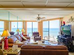 Welcome to Sandpiper Edgewater 404W, in the Windward Building of Edgewater Beach and Golf Resort. View from the living...
