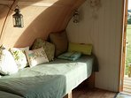 one of the single beds