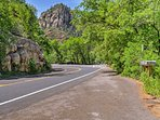 To get to your vacation cabin, drive down the stunning Red Rock Scenic Byway.