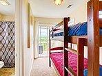 Family Suite - Bunk Area - Private Rear Porch
