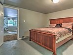 Another queen bed highlights this fifth bedroom.