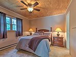Get a good night of sleep in this queen bed.