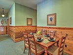 Gather around the dining table for a memorable family meal.