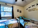 This room has two twin sized beds and is perfect for children