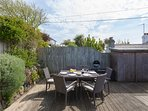 Decked terrace perfect for al fresco dining