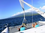 Book QUIXOTIC for the day and take your lucky friends sailing and snorkeling!