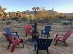 Just Added:  The outdoor fireplace and Adirondack chairs are the perfect star gazing spot.
