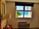 Master Suite King size bed with a ''Direct view to the White Sandy Beach''