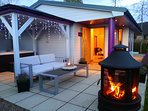 Fire pit available in the winter months - ask us about our packages
