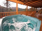 Hot Tub on Private Back Deck Overlooking Mountain View