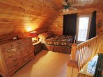 Loft cross-over to the Balcony that to view of the River (Queen Size Bed)