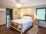 Rustic bed frame with Queen mattress