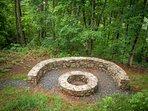 Custom Built Stone Fire Pit