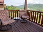 This end of the deck is where the walk out from the master bedroom is. Relax and enjoy! Peaceful!