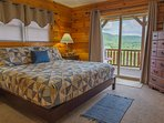 Wake up to the beauty of nature with this view from the main master. King size bed, walk out to deck