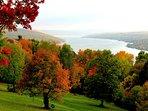 Area photo: Keuka Lake in full autumn bloom.