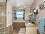 Bright and open master bath room.