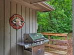 Fire up the gas grill for a family barbecue.